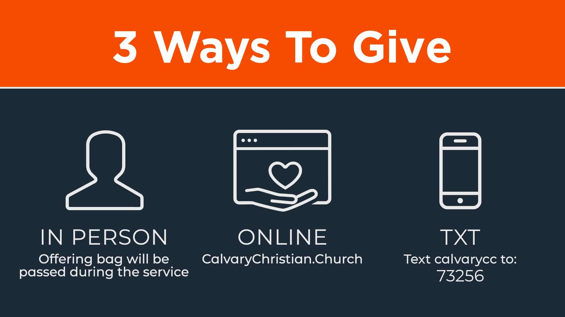 Ways to give at calvary christian church in Lynnfield, MA.